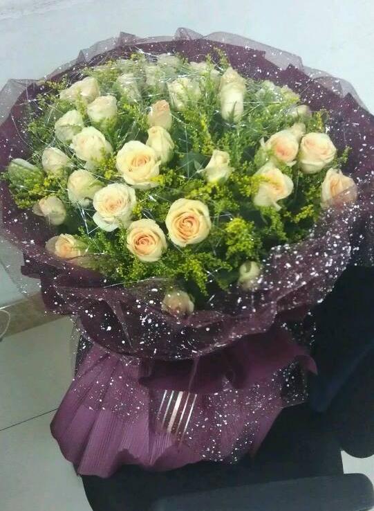 七夕送花香槟玫瑰