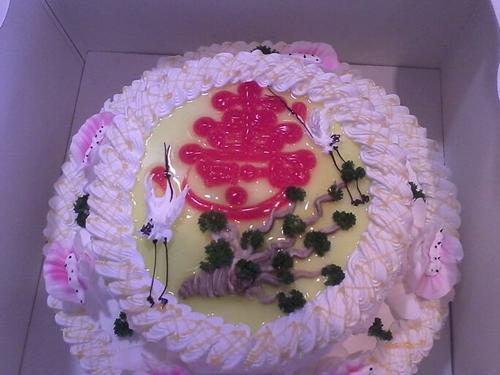 祝寿蛋糕双层松鹤延年