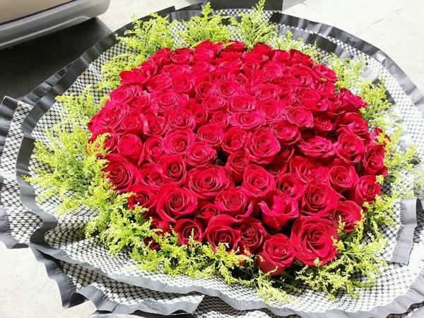 沈阳99支玫瑰花束送货上门
